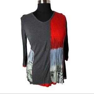 Red and Grey Tunic Parsley & Sage EUC XL